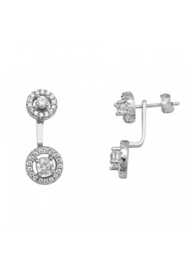 Pendientes swing earrings circonitas plata de ley