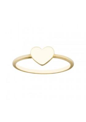 Anillo sortija corazon plata/oro amarillo