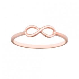 Anillo infinito sortija plata/oro rosa