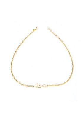Cadena colgante love plata/oro amarillo