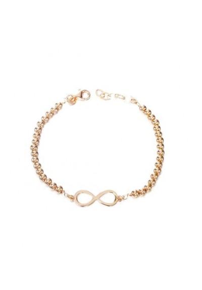 Pulsera bolas infinito plata/oro rosa