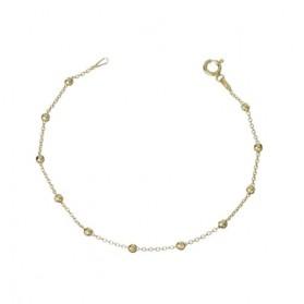 Pulsera cadena bolas mini plata/oro amarillo