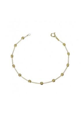 Pulsera cadena cubos mini plata/oro amarillo