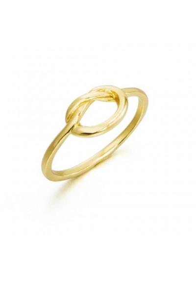 Anillo sortija nudo plata/oro amarillo