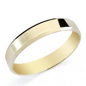 Alianza boda oro amarillo de ley plana