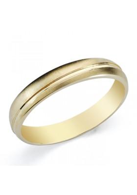 Alianza boda oro amarillo de ley gallon