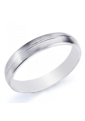 Alianza boda oro blanco de ley gallon