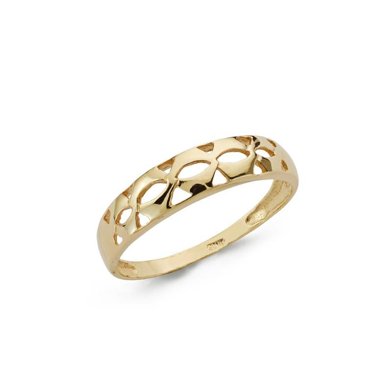 cd7e6958ba55 Sortija de infinito con pavé en oro - Joyería Diamantela