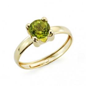 Solitario oro amarillo garra olivina
