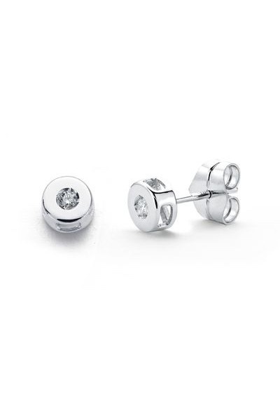 Pendientes diamantes 0,04 qts chaton oro blanco