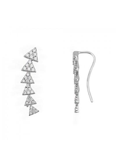 Pendientes ear cuff triangulos