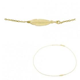Cadena colgante pluma plata/oro amarillo