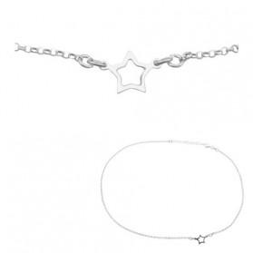 Cadena colgante estrella en plata de ley