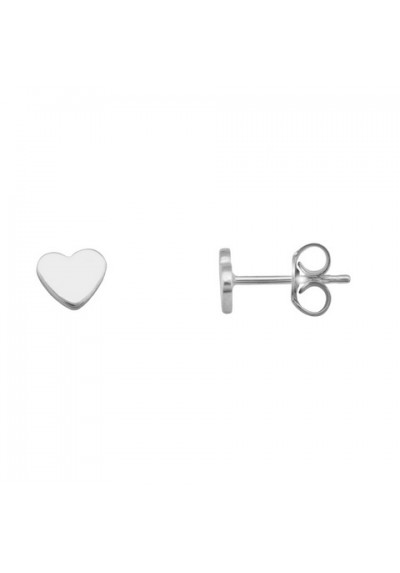 Pendientes de corazon en plata