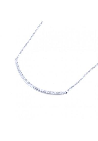 Cadena colgante barra circonitas plata de ley