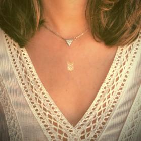 Cadena colgante triángulo circonitas plata de ley